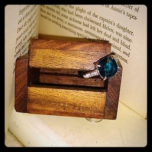 Jewelry - London Blue Topaz Cushion Cut Ring